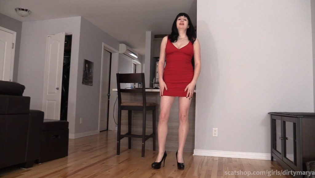 Nice and cute girl defecates thick turd - 1