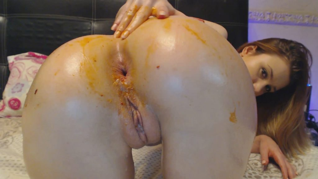 Dirty Anal with black toy - Dirty Lena (FULL-HD) - Scat Free Porn